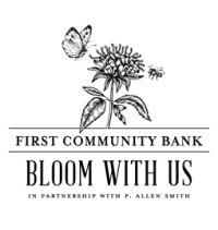 First Community Bank Bloom With Us in Partnership with P. Allen Smith
