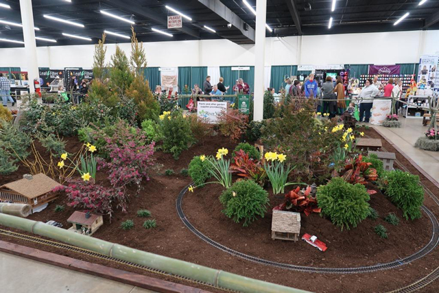 Picture of show floor with gardens